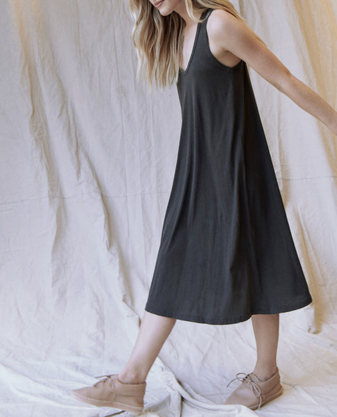 The Swing Tank Dress. -- Washed Black