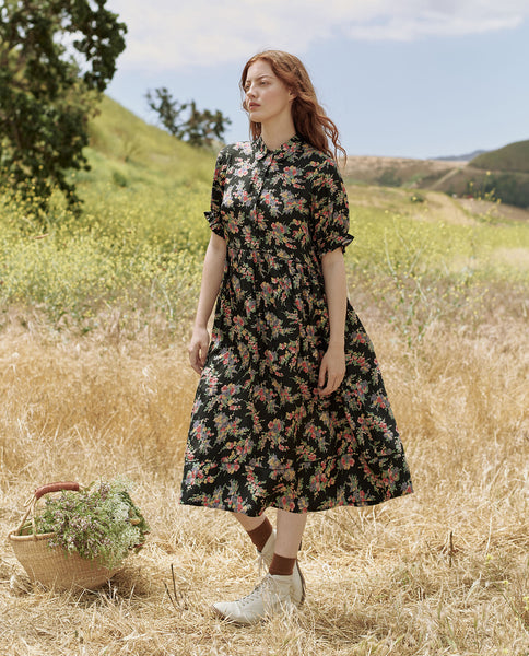 The Terrace Dress. -- TULIP FIELD FLORAL