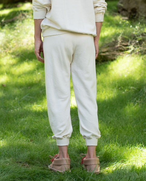 The Tie Sweatpant. -- WASHED WHITE