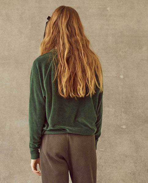 The Velour College Sweatshirt. -- Emerald