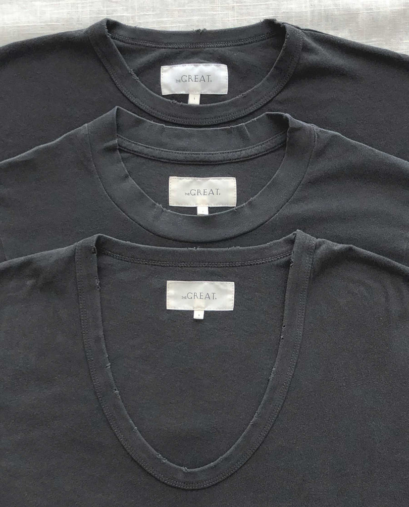 The Favorite Tee Set. -- WASHED BLACK