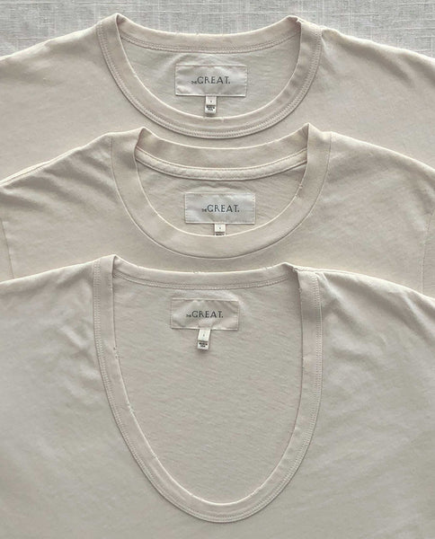 The Favorite Tee Set. -- WASHED WHITE