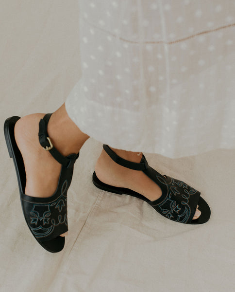 The Western Sandal. -- Black