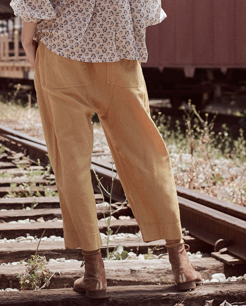 The Wide Leg Harem Pant. -- GOLDENROD