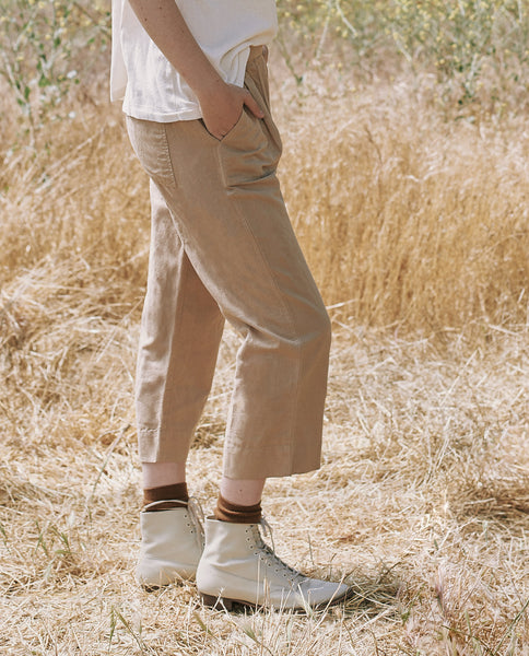 The Wide Leg Harem Pant. -- KHAKI