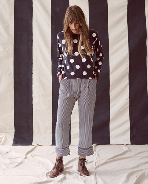 The Pajama Trouser. -- Pencil Stripe