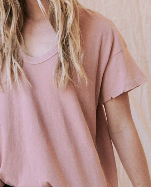 The U-Neck Tee. -- Cloud Pink
