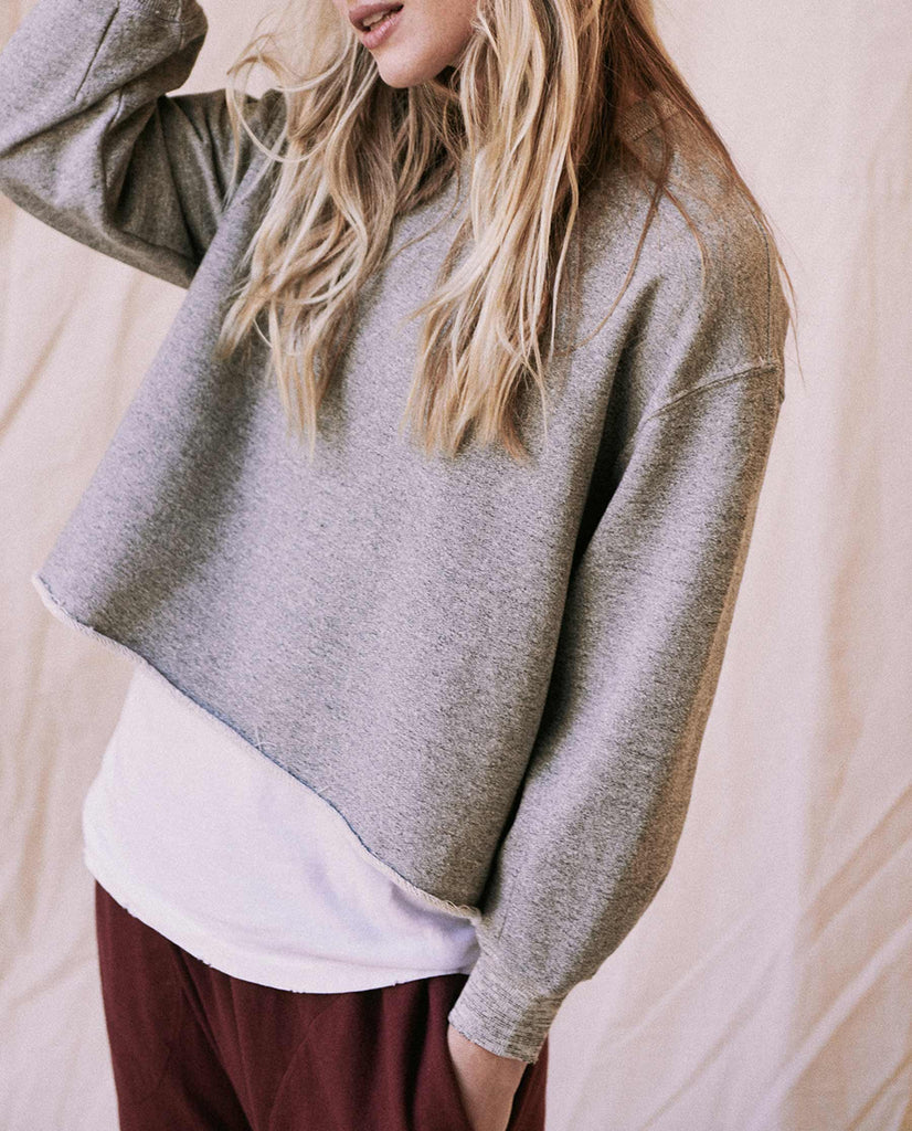 The Cut Off Sweatshirt. -- Varsity Grey
