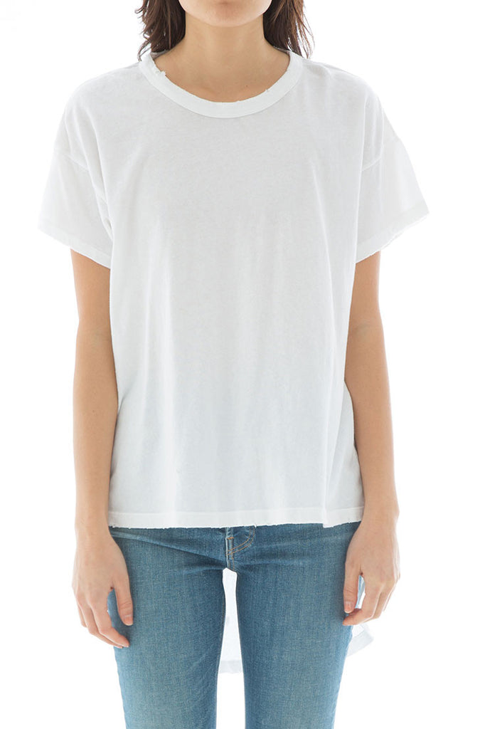 The Shirttail Tee. -- True White