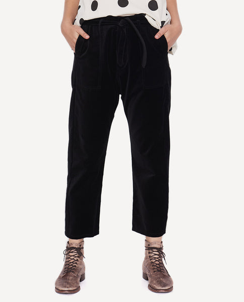 The Convertible Trouser. -Black Velvet- The Great. by Emily and Meritt