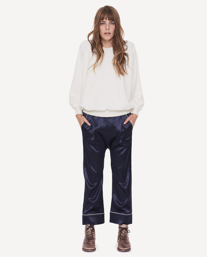The Pajama Trouser.-Blue Black- The Great. by Emily and Meritt