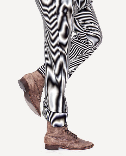 The Pajama Trouser.-Pencil Stripe- The Great. by Emily and Meritt