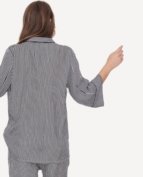 The Sleeper Top.-Pencil Stripe.- The Great-By Emily + Meritt-