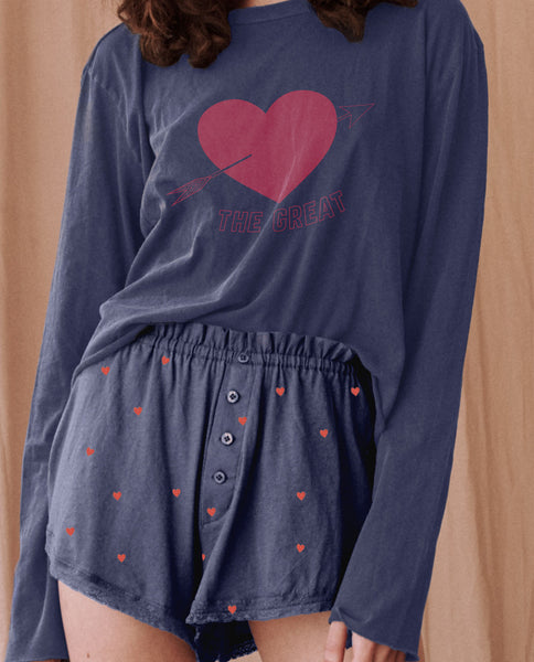 The Tap Short. -- NAVY With VALENTINE HEARTS