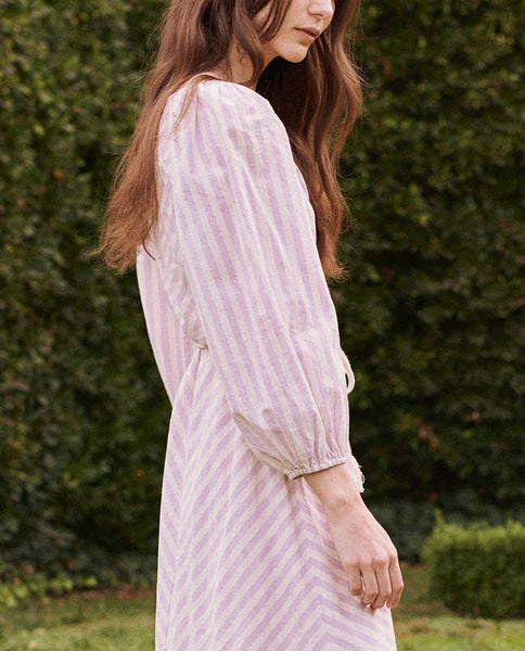 The Adventurer Dress. -- LAVENDER STRIPE