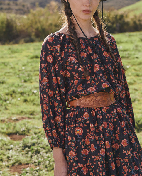 The Bluff Dress. -- ANTIQUE FLORAL