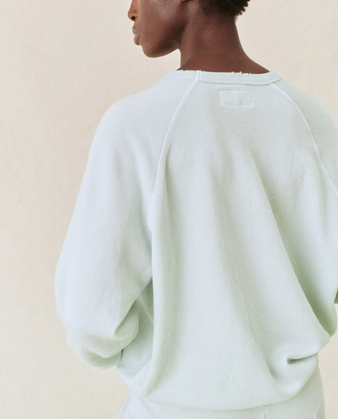 The College Sweatshirt. Solid -- Fresh Mint