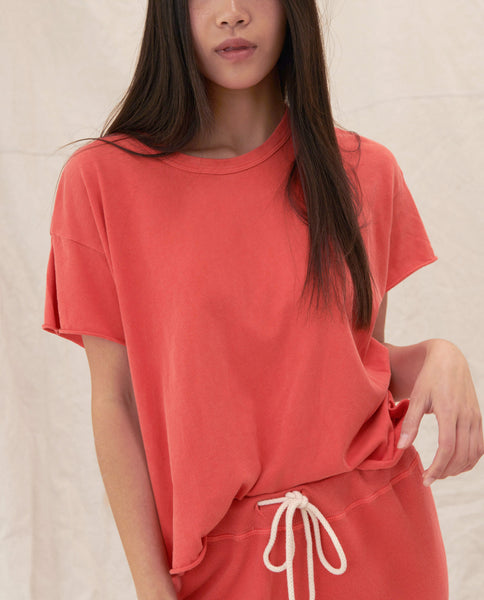 The Crop Tee. -- BARN RED