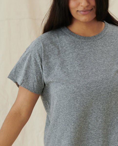 The Crop Tee. -- HEATHER GREY