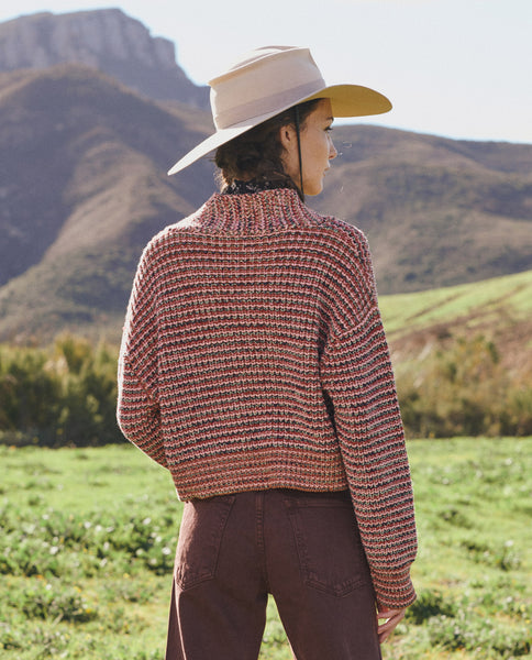 The Cropped Montana Cardigan. -- FIELD STRIPE