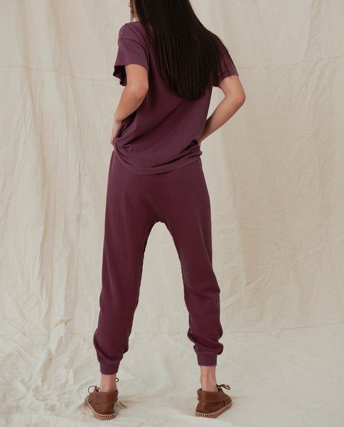 The Cropped Sweatpant. Solid -- GRAPESEED