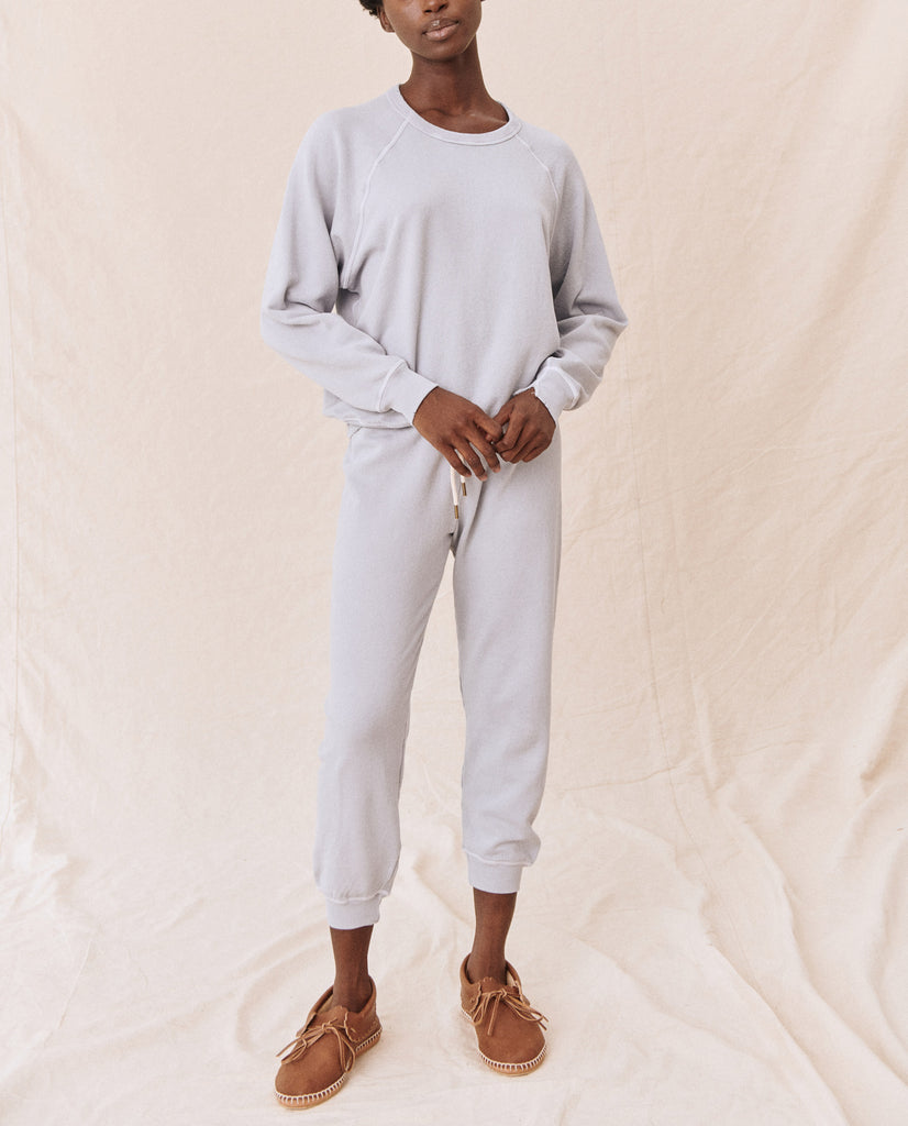The Cropped Sweatpant. Solid -- Prairie Sky