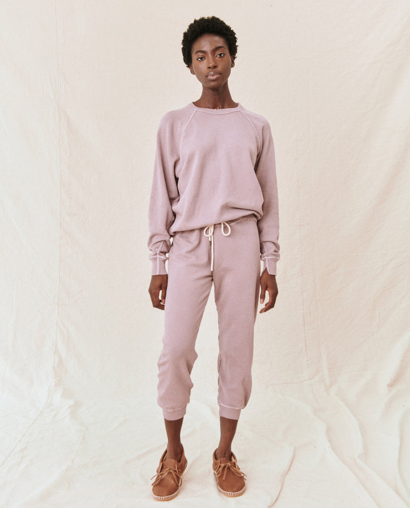 The Cropped Sweatpant. Solid -- Quartz