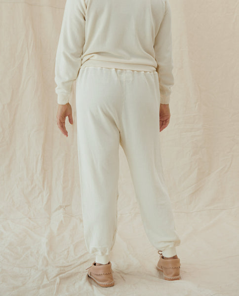 The Cropped Sweatpant. Solid -- Washed White