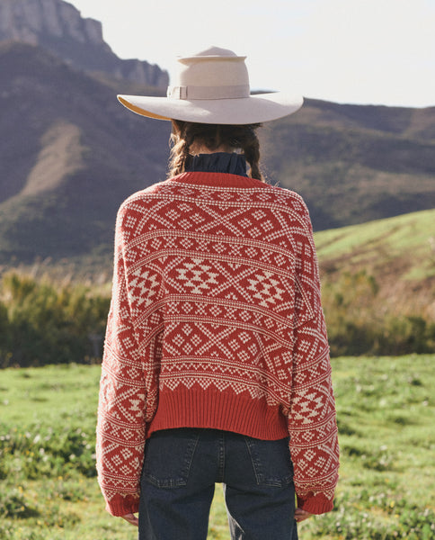 The Fair Isle Pullover Sweater. -- DRIED CURRANT