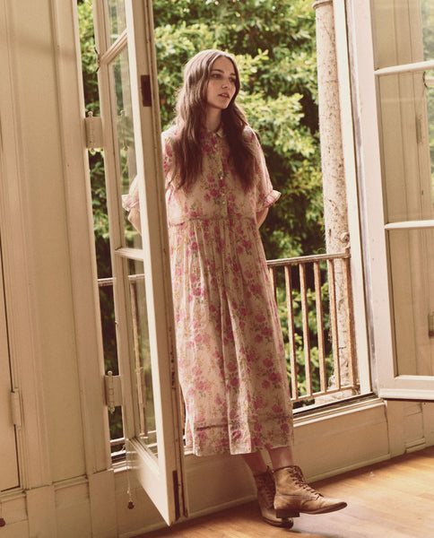 The Garden Dress. -- SWEET PEA FLORAL