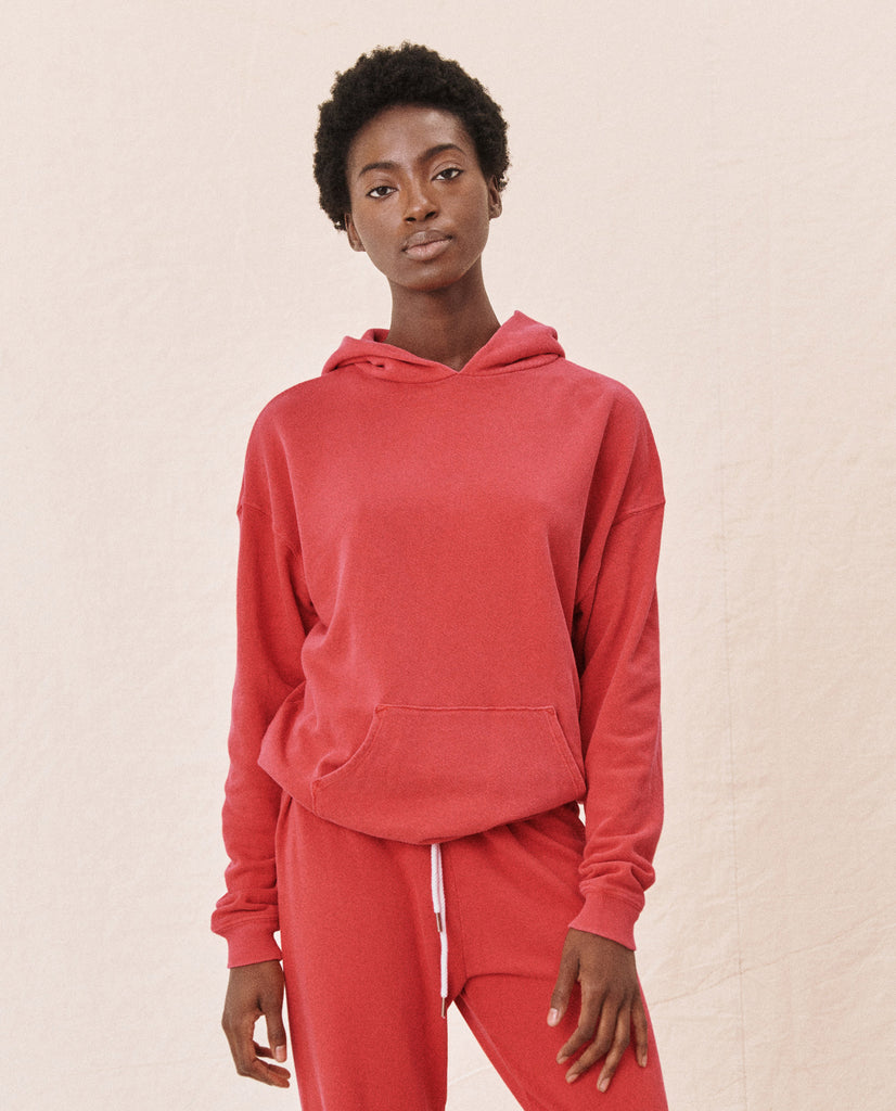 The Gym Hoodie. -- BARN RED