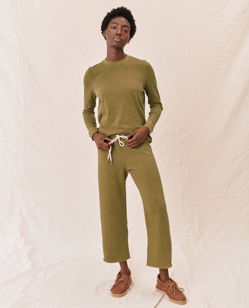 The Long Sleeve Slim Tee. -- OLIVE LEAF