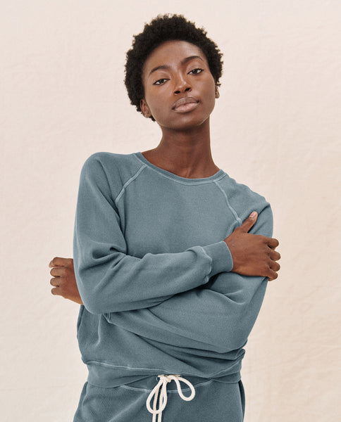 The Shrunken Sweatshirt. -- GAUCHO BLUE