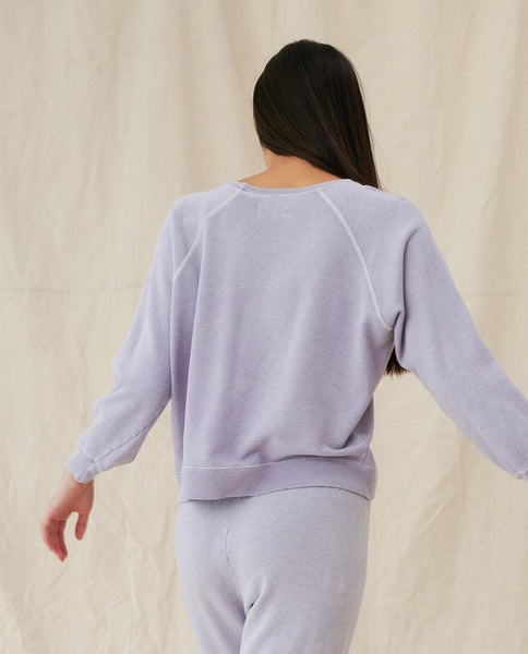 The Shrunken Sweatshirt. -- HEATHER LILAC