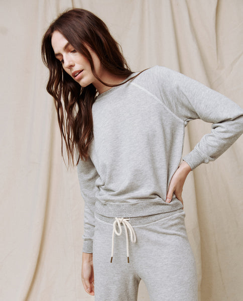 The Shrunken Sweatshirt. -- LIGHT HEATHER GREY