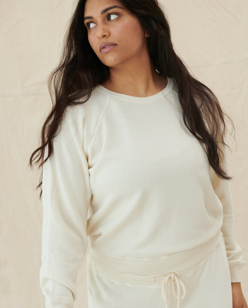 The Shrunken Sweatshirt. -- WASHED WHITE