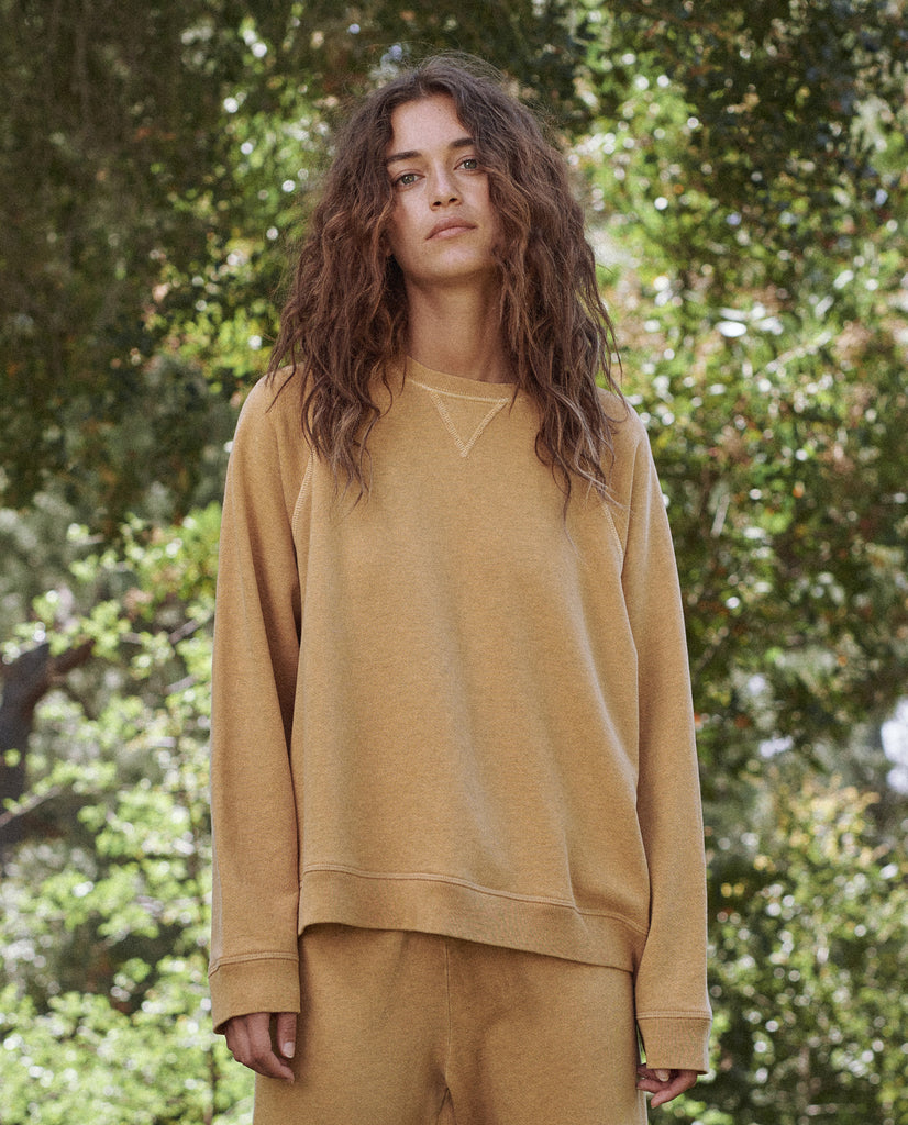 The Slouch Sweatshirt. Solid -- HEATHER BUTTERCUP