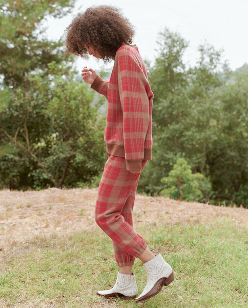 The Slouch Sweatshirt. -- LUMBER PLAID