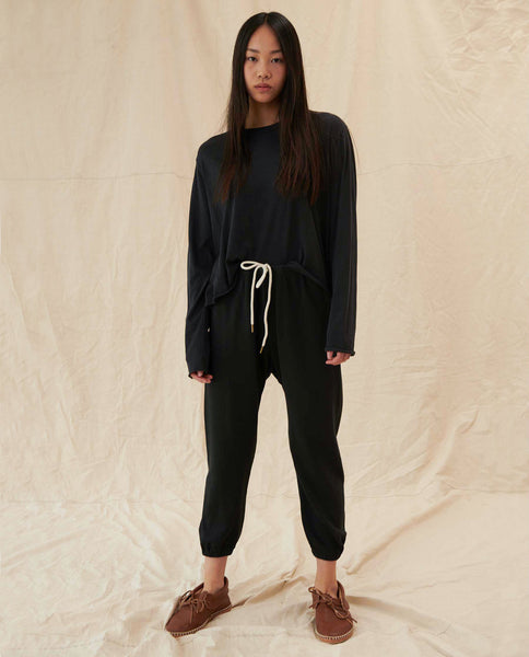 The Slouch Sweatshirt and The Stadium Sweatpant Set. -- Almost Black