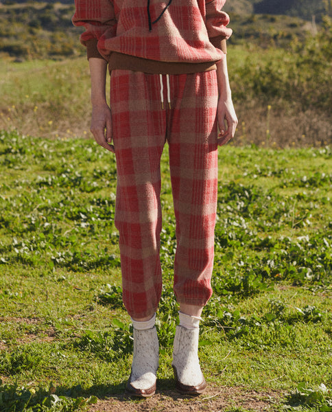 The Stadium Sweatpant. -- LUMBER PLAID