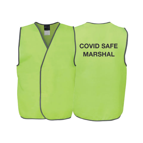 COVID SAFE MARSHAL Safety Vest - Lime