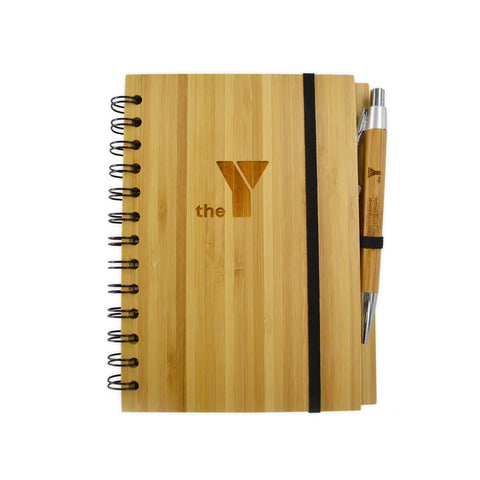Y Eco Bamboo Notebook & Pen Set