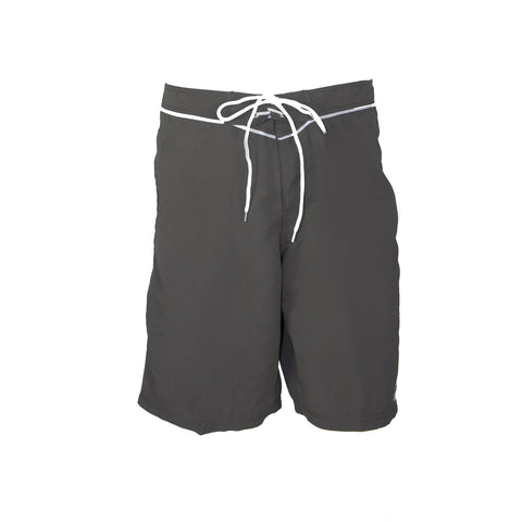 Mens Piped Boardshort - Titanium/White
