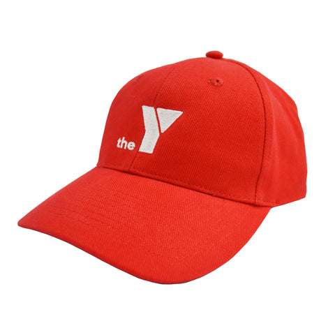 Y Heavy Brushed Cotton Cap - Red