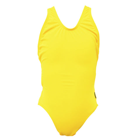 Girls Exposure Back Swimsuit - Yellow