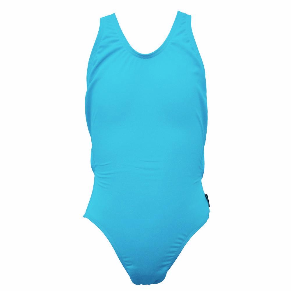 Girls Exposure Back Swimsuit - Aqua