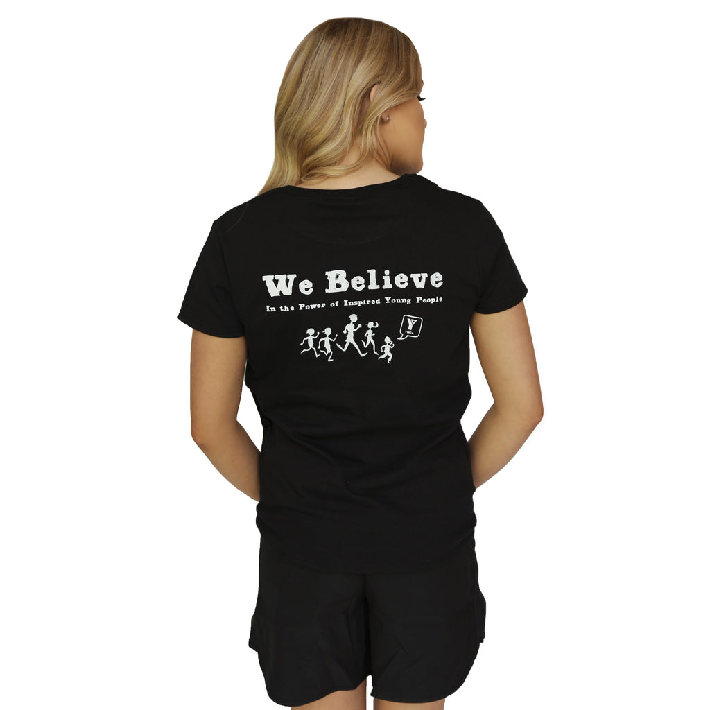 YMCA Unisex Belief Tee - Black