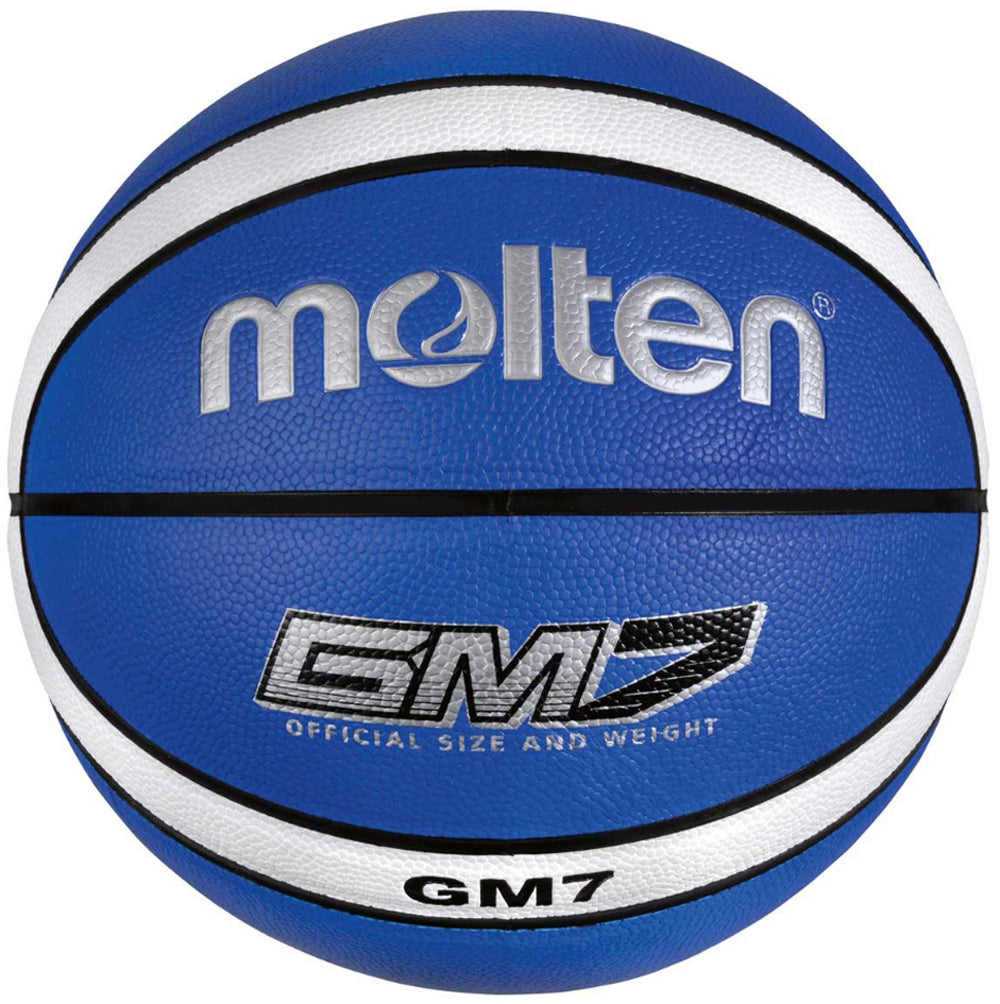 Molten BGMX Composite Leather Basketball - Blue / White
