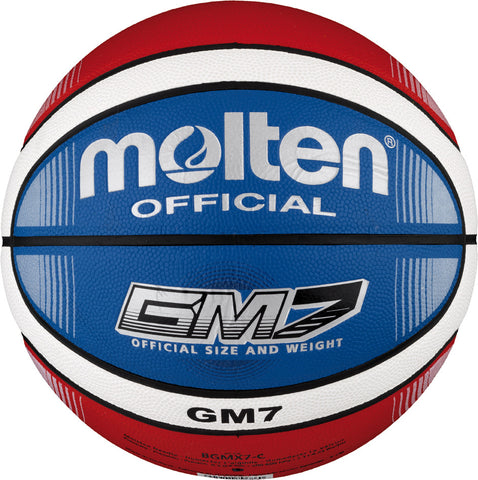 Molten BGMX Composite Leather Basketball - Red / White / Blue
