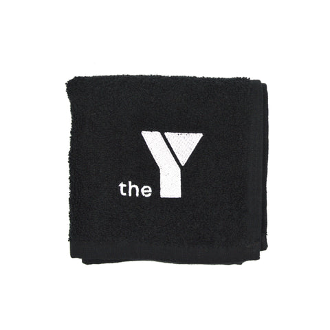 Y Black Gym Towel